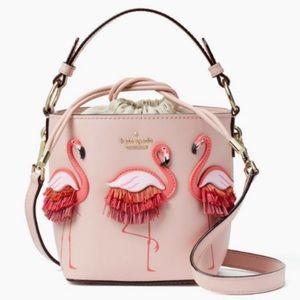 Kate Spade Flamingo bucket bag